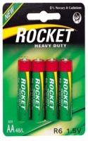 Элемент питания Rocket, R6, AA (солевая, эконом)