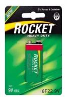 Элемент питания Rocket, 6F22, 6LR61 (солевая, эконом)